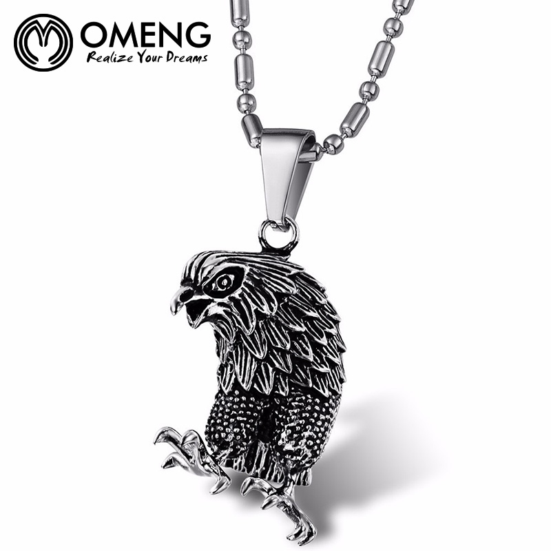Omeng stainless steel vintage design hip hop trendy albanian eagle omeng stainless steel vintage design hip hop trendy albanian eagle necklace oxl181 in chain necklaces from jewelry accessories on aliexpress alibaba aloadofball Gallery
