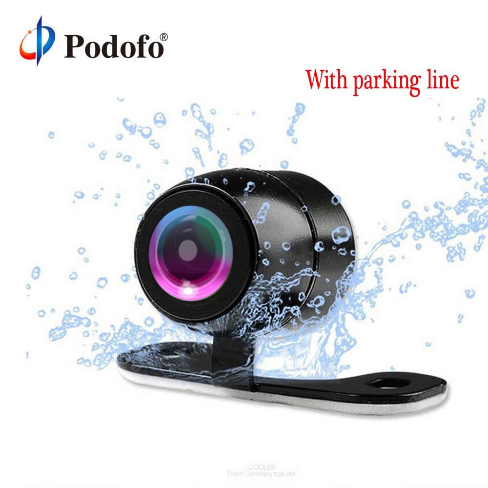 Podofo Car Rear View Camera Waterproof Car Rearview Camera Car Park Monitor Wide Degree Mini Car