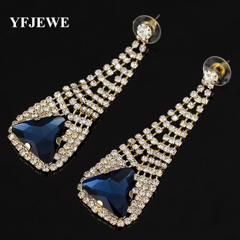 YFJEWE New 2 colors elegant fashion earrings beautiful woman wearing wedding party decoration temperament Jewelry gift #E255