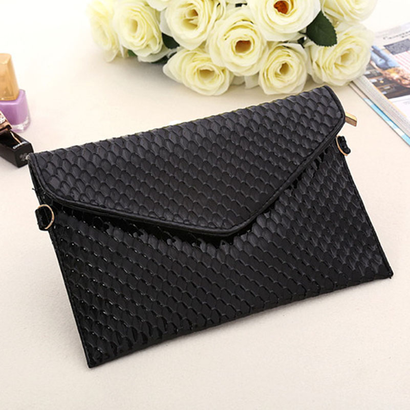 все цены на Women Envelope Clutch PU Leather Clutch Bag Lady Evening Handbag Simple Elegant Female Messenger Bag Crossbody Bags For Women