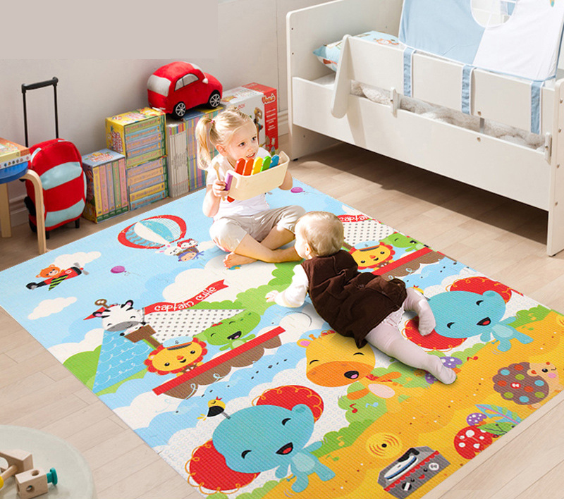 6pcs Baby Xpe Splicing Mat Double Pattern Children Thick