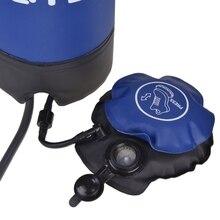11Л наружная надувная ПВХ складная напорная душевая сумка для воды портативный походный душ с ножным насосом для кемпинга путешествия Hik
