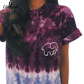 Autumn Ivory Ella Leisure T-shirt 2016 Womens Clothing Tee Print Animal Elephant T Shirt Short  Sleeve RS247