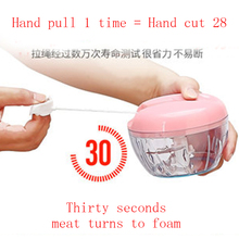 Kitchen Multifunction Vegetable Chopper Cutter Garlic Fruit Twist Shredder Manual Meat Grinder Juice