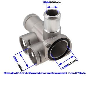 Image 3 - אלומיניום סגסוגת קירור נוזל קירור צינור צינור מחבר Fit עבור פולקסווגן פאסאט B3 גולף שרן פולו אאודי 80 100 c45 a6c4 מנוע AVK.