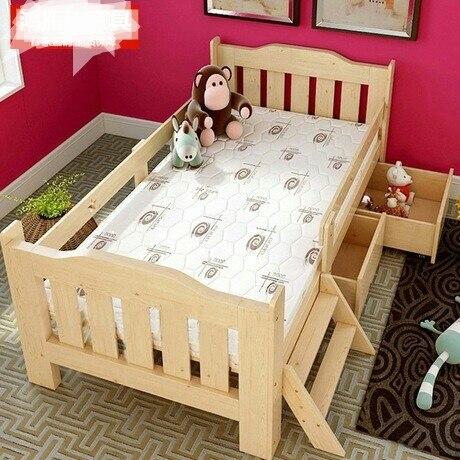 Los niños camas muebles cama siesta los niños de madera maciza cama ...