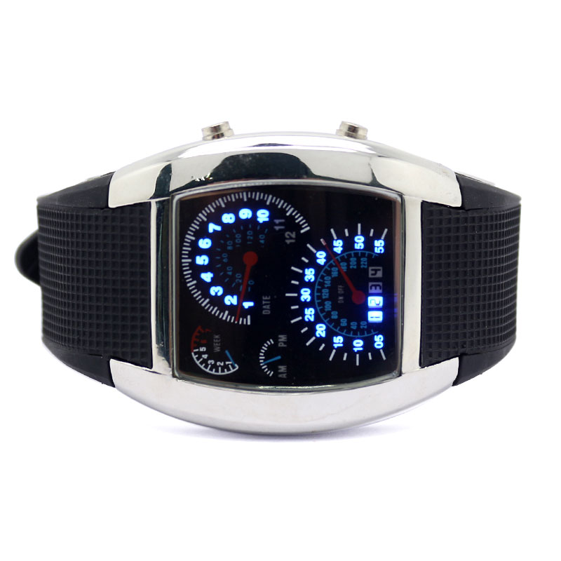 Digital Watches Paidu Cool Men Pilot Watch Luxury Dashborad Dial Full Stainless Steel Business Male Dress Wristwatch High Quality Military Clock Men's Watches