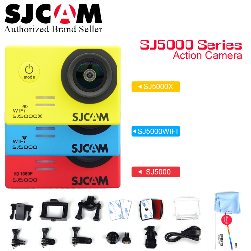 SJCAM SJ5000 Series SJ5000 & SJ5000 WiFi SJ5000X WiFi Action Camera Notavek 96655 Sport DV 2.0 LCD Waterproof Camcoder original sjcam sj5000 series action video camera sj5000x 4k elite sj5000 wifi sj5000 basic mini outdoor sport camcorder dv