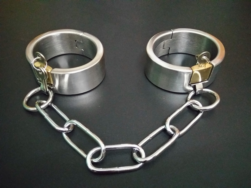 Product Sex Shop Hot Heavy Sex Handcuffs Adult Sex Slave Games Sexy Sex Toys BDSM Fetish Bondage Harness Set  For Men And Women. adult games sexy latex device sex fetish toys hot sale rubber hanging neck chest tight wrapped tools for women