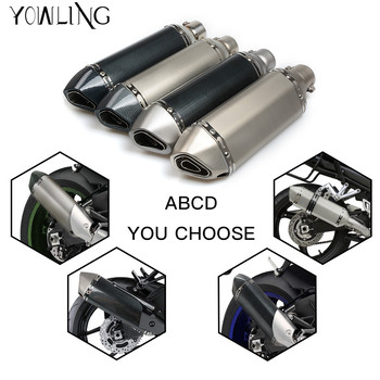 Universal Motorcycle engine cover Exhaust  Escape Moto Muffler Pipe With Removable DB Killer GY6 CBR125 CB400 CB600 YZF  R3 R6