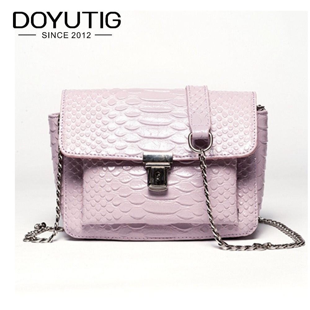 Women's Genuine Leather Crossbody Bags With Chains Small Lady Casual Messenger Bags Pink Color Fashion Women Shoulder Bags F543 fashion brand genuine cow leather women bags small pig shoulder bag luxury chains strap crossbody bags casual tote for lady