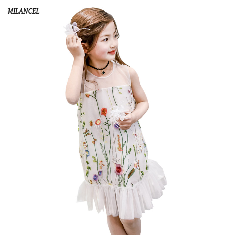 Girls Dresses 2017 Girl Princess Dress Kids Clothes Mermaid Style Lace Kids Dress for Girls Clothes 3-8Y Party Flower Dress lace flower girl dress europe and the united states style silk belt princess kids dresses girls party dress for 2 8t