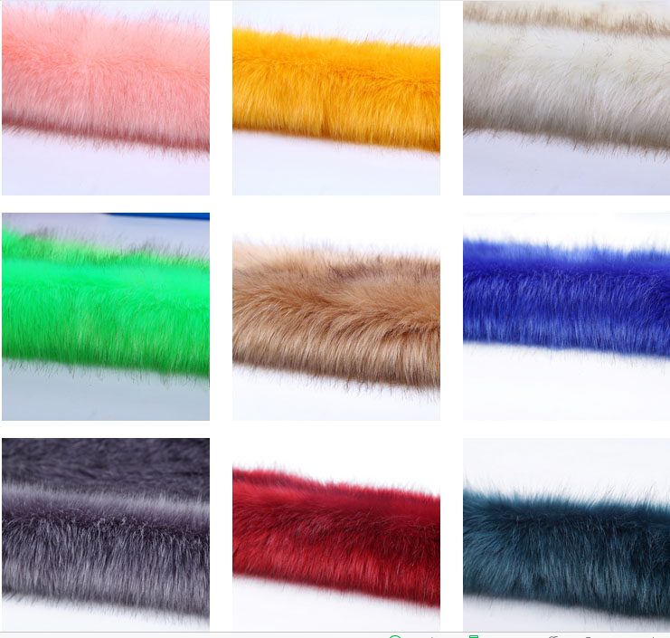 High grade Dye tip faux fox fur Super soft and thick felt cloth plush fabric Fur