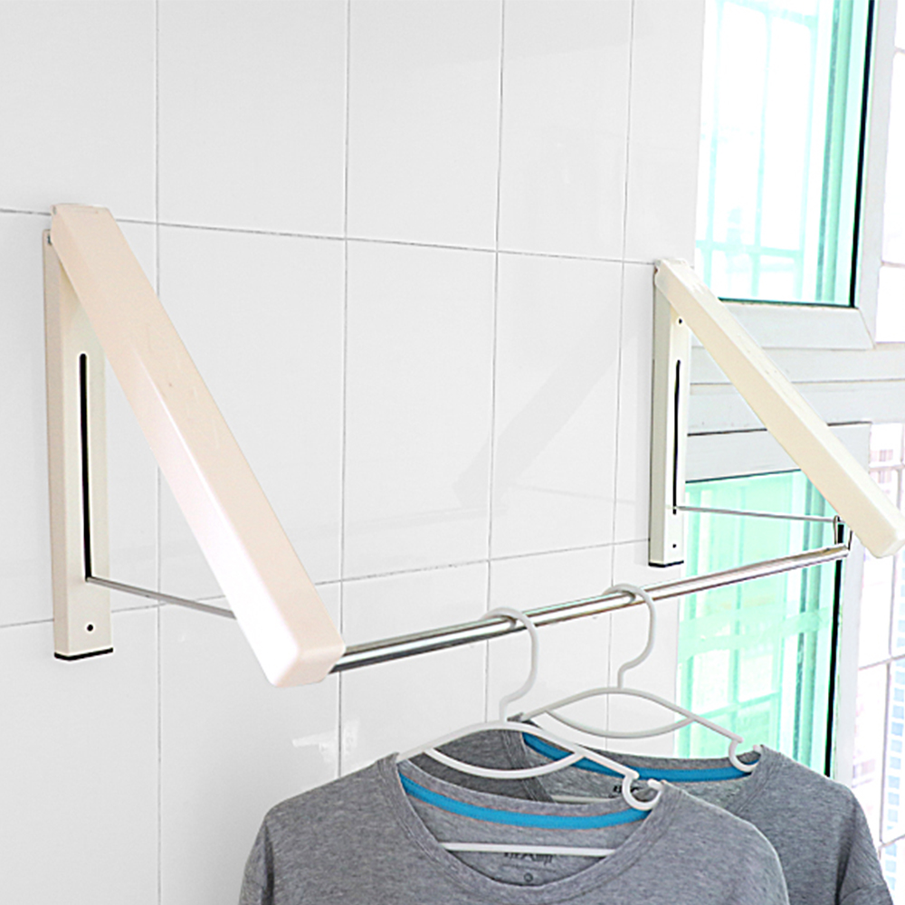 Clothes Hanger Laundry Clothes Hanger Rack Folding Racks Wall