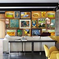 Van Gogh Bedroom Sofa Hotel TV Wallpaper Wallpaper Wallpaper Seamless Large Mural 3D Non Woven