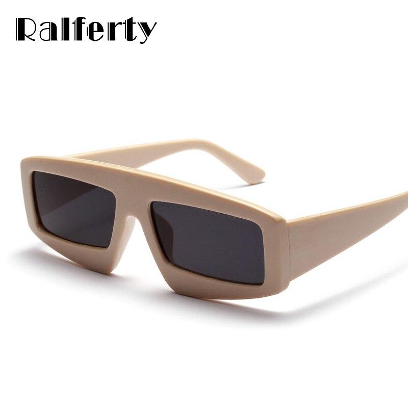 Ralferty 2018 Occhiali Da Sole Degli Uomini Delle Donne Occhiali Da Sole Quadrati di Modo Alla Moda di Grandi Dimensioni Occhiali Da Sole Beige Nero Rosso Occhiali Oculos W1346
