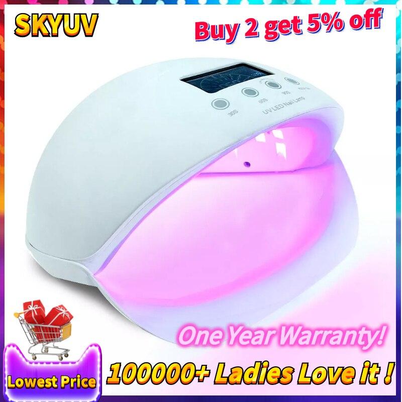 Sun5se 50 светодио дный Вт УФ светодиодная лампа для светодио дный ногтей 28 LED s Сушилка для ногтей Гель-лак для сушки умный датчик маникюрные инс...