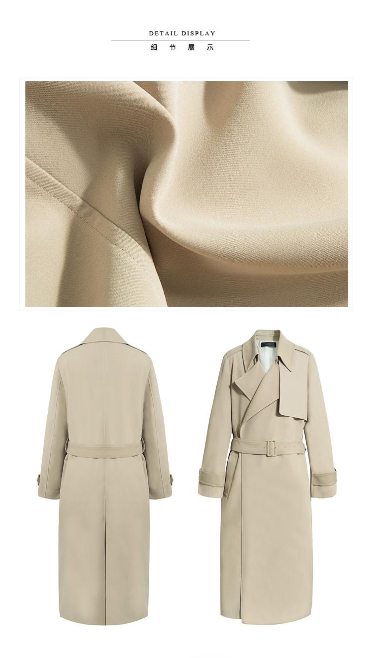 Spring Autumn Maxi Long Women's Loose Trench Coat With Belt Khaki & Black Plus Size Korean Style Windbreaker Outwear 2