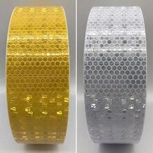 цена 50mmx5m Reflective Material Tape Sticker Automobile Motorcycles Safety Warning Tape Reflective Film Car Stickers онлайн в 2017 году
