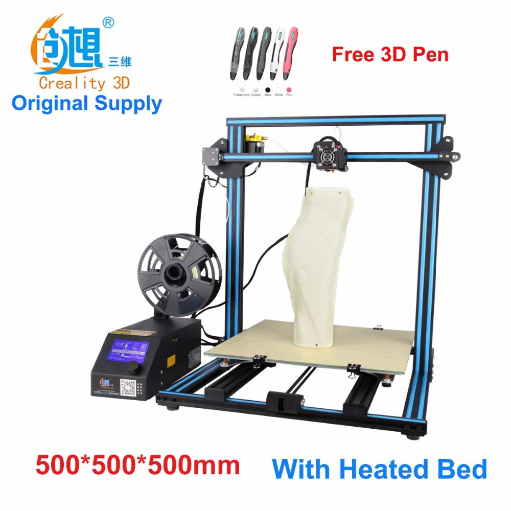 Creality CR-10-Max  large printing size DIY desktop 3D printer 500*500*500 mm printing size  multi-type filament with heated bed flsun 3d printer big pulley kossel 3d printer with one roll filament sd card fast shipping