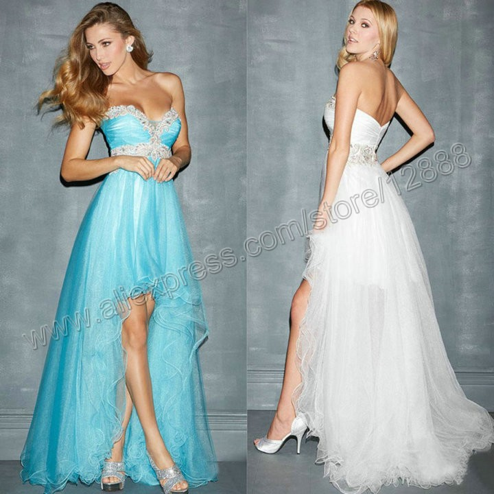 Black Turquoise White Peach Tulle Sweetheart 2015 New Short Front ...