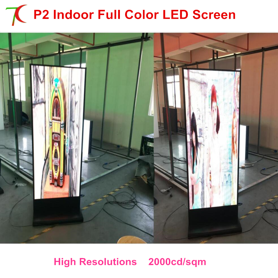 Led Display Poster Customized Size  HD P2 Indoor Metal Display Advertising.led Full Color Advertising Display Indoor Cabinet