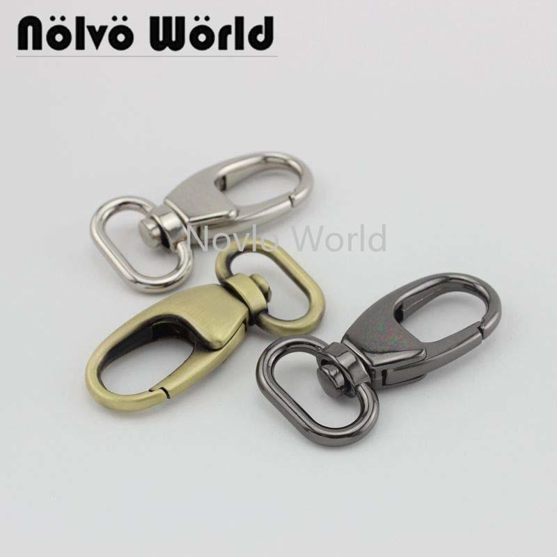 Wholesale 500pcs, 5 Colors Accept Mix Color, 53*20mm 3/4 Inch Metal Trigger Snap Hook Handbag Purse Adjusted Swivel Clasp Hooks