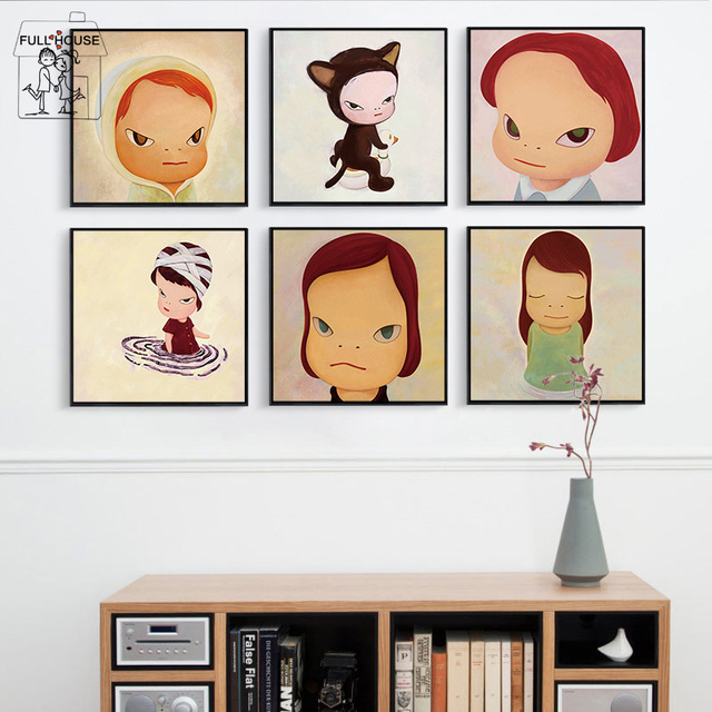 FULL HOUSE Nordic Style Wall Painting For Kids Room Pictures Cartoon Family  Canvas Art Painting Print Poster Home Decor No Frame