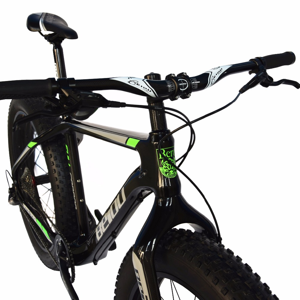 BEIOU Full Carbon Fat Tire Bicycle Fat Mountain Bike 26 Inch 4.0 ...