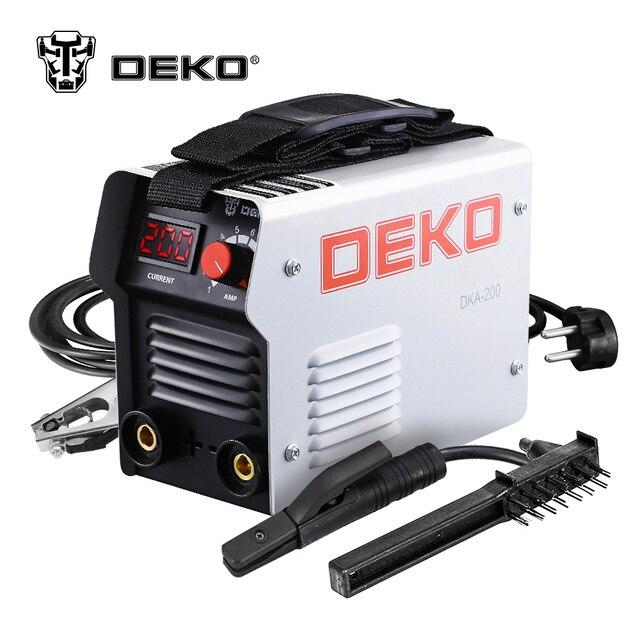 DEKO DKA-200G 200A 4.1KVA IP21S inversor Arc máquina de soldadura eléctrica 220 V MMA soldadora para trabajo de soldadura y trabajo eléctrico
