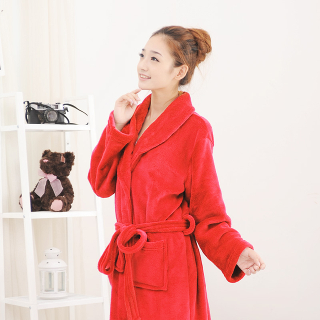 fcd36dc582ef days thick coral fleece flannel pajamas and bathrobe Nightgown a Siamese  couple Home Furnishing clearance service
