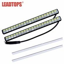 Leadtops стайлинга автомобилей Универсальный поворотов индикаторная лампа источник 42 SMD LED DRL Белый Включите Amber Габаритные огни 12 В