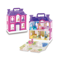 3D Plastic DIY Small Doll House Toy for Kids chiledren Doll Houses Assemble Dollhouse Two Storey Villa Model Play Gift