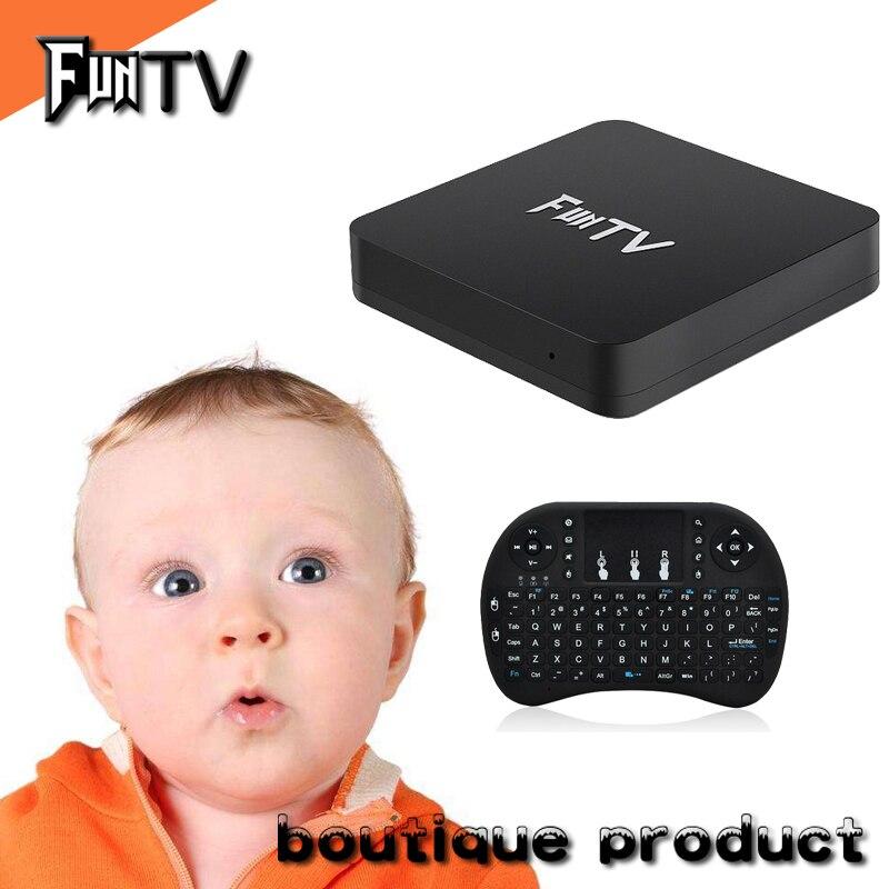 Весело tv box Android 6,1 fun ТВ 2 BOX amlogic cortex A53 почты Smart tv box Японский Корейский Малайзии HK TW 1 г 8 г комплект top box tv