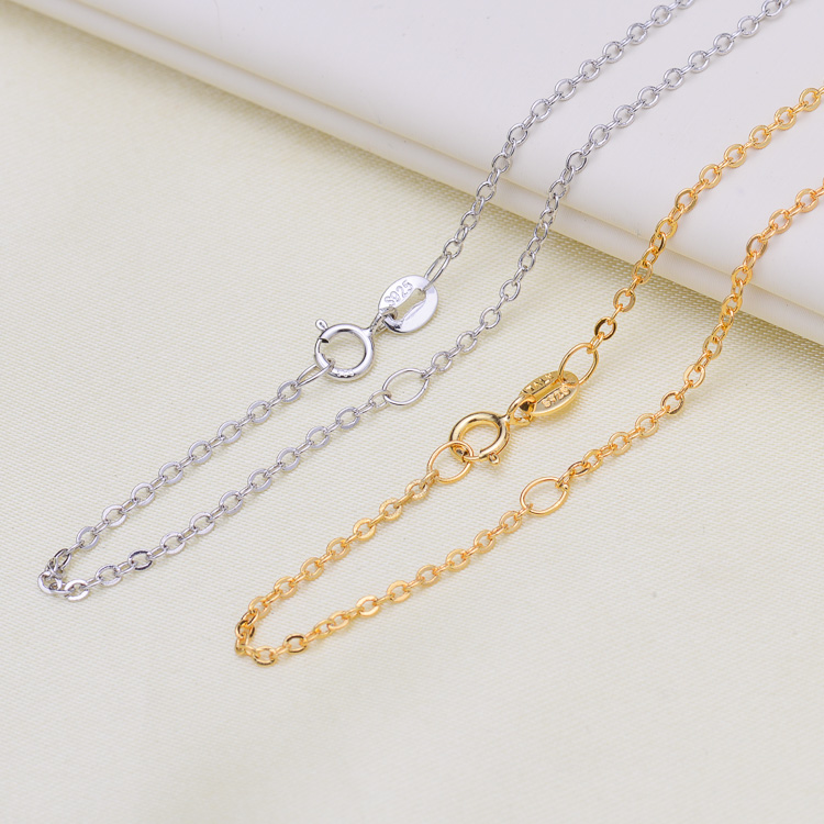 Big Promotion! High Quality Fashion Hot Sell Chain 925 Sterling Silver Classic Basic Silver Chains Jewelry Gift Wholesale 45cm
