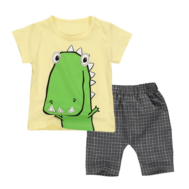 QH 2017 Baby Boy Girls Clothes Summer Newborn Baby Boys Clothes Set Cotton Baby Clothing (Shirt+Pants) Infant Clothes Set