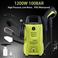 High Pressure Cleaner Car Washer 1200w 100 Bar 1450 PSI Spray Gun Detergent Bottle Turbo Water Hose Self washing Machine