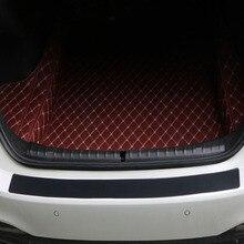 Car trunk bumper anti-collision and anti-rubbing rubber tail door decorative rear guard plate sticker