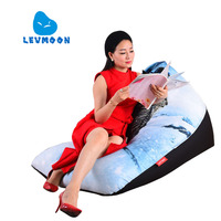 LEVMOON Beanbag Chair Teenage Mutant Ninja Turtles Comfort Bean Bag Bed Cover Without Filler Cotton Indoor