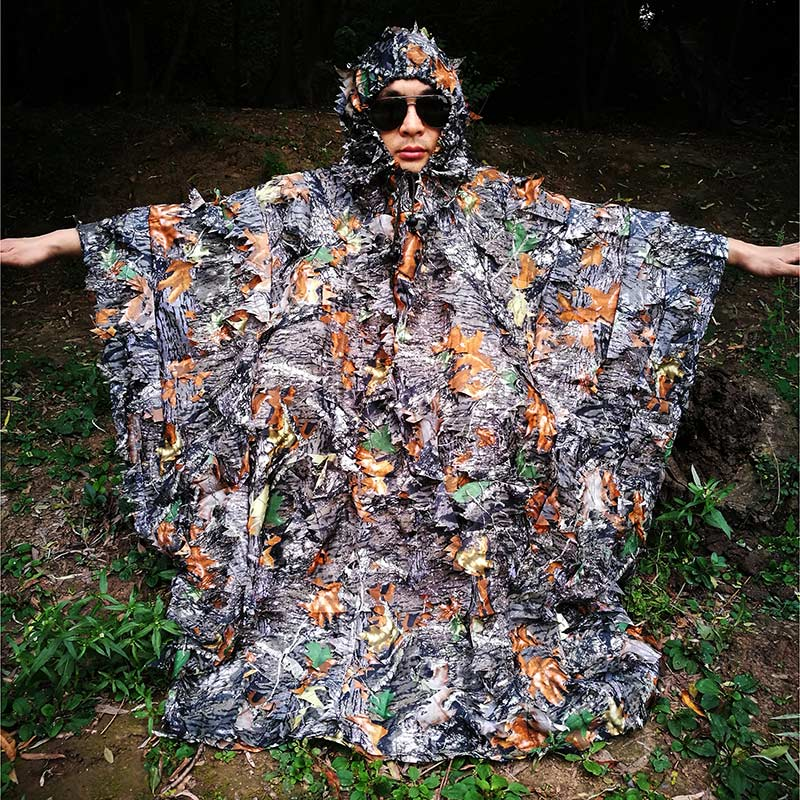 good selling available amazing selection € 20.53 29% de réduction|Camo 3D feuille chasse Poncho Camouflage vêtements  Camping observation des oiseaux respirant Ghillie costume pour chasseur-in  ...