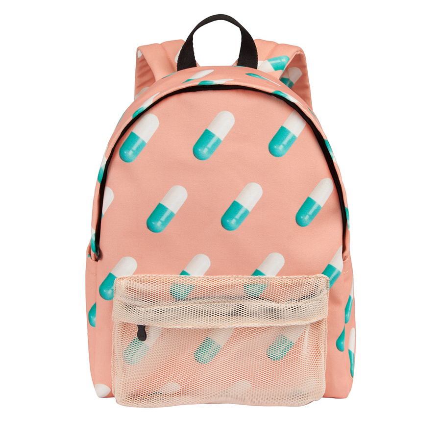 Yizistore Original Creative Polyester Canvas Backpacks Printed School Boys And Girls In CAPSULE Series(FUN KIK)