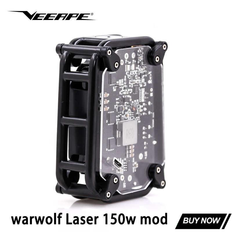Original veeape warwolf Laser 150W box mod 3500mAh battery electronic cigarette mods vs vape mech mod for 510 thread vape kit
