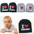 Fashion Crochet Baby Hat Girl Boy Cap Beanies Accessories Letter I Love MAMA PAPA Cute Baby Knit Hat Warm Cotton Caps IB076 P20