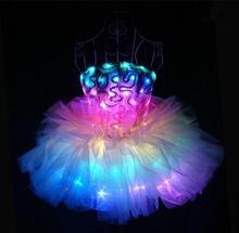LED female DJ luminous clothes dress skirt stage light princess Christmas costumes