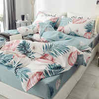 Floral PrintUltra Soft 100%Cotton Twin Queen Bedding Set King size Bed Fitted sheet Kids Girls Bed set Duvet cover Pillowcases