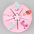 Pink Sponge Nail Art Equipment Salon Tools Tips Display Novice Rack Practice Stand Holder Nail Work Table
