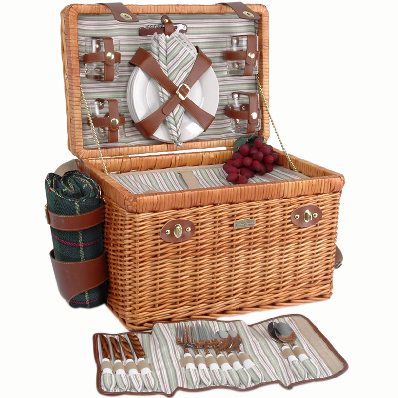 Picnic & beyond The Enchanted Evening Collection - B Willow Basket the enchanted april