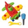 Nova DIY crianças crianças brinquedos criança desmontagem e montagem avião dos desenhos animados brinquedos com ferramenta