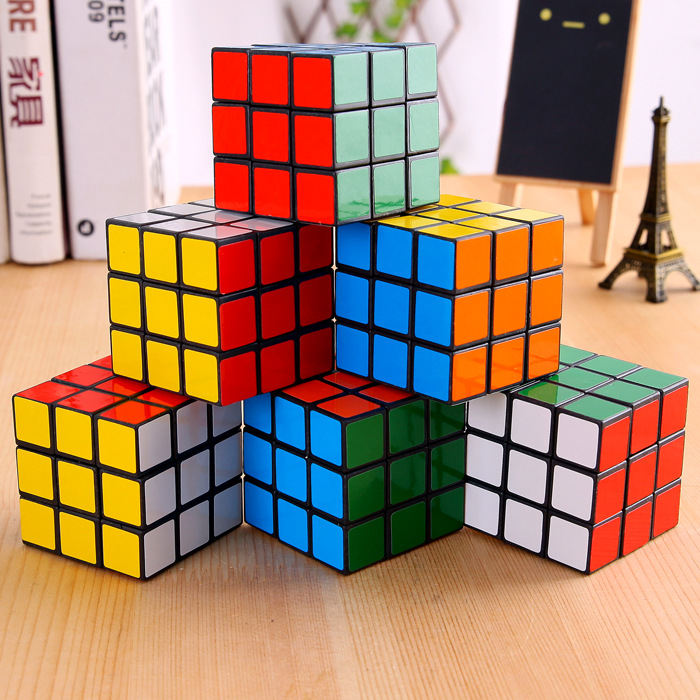3x3x3 Cm  Speed Magic Cubes Puzzle Cube Sticker Adult Education Toys For Children