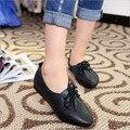Mujeres zapatos casual 2016 zapatos de primavera y verano, planos planos salvaje, color ligero puro zapatos femeninos de la boca